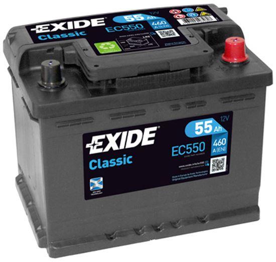 55Ah P,s.s.460A,EXIDE Classic,12V,242x175x190 novi dio